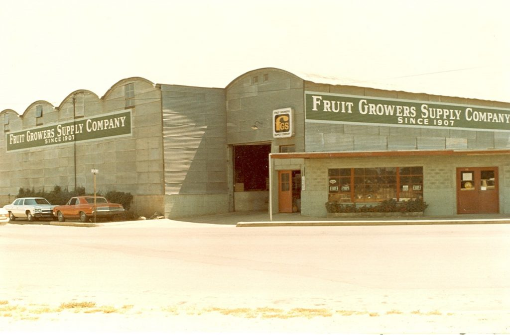 Outside View of Fruit Growers Supply Company Since 1907