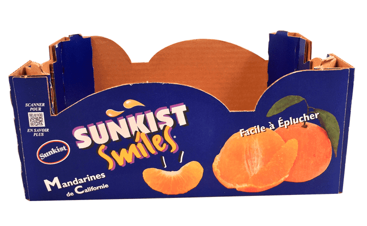 Sunkist Smiles Brand Cardboard Box Made For Shipping